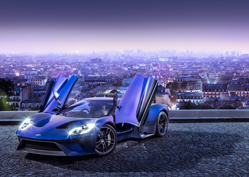 2017 Ford GT Front Angle Doors Open