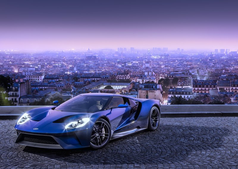 2017 Ford GT Overlooking Paris