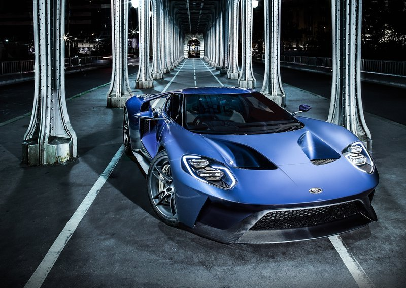 2017 Ford GT Parked Under Bridge
