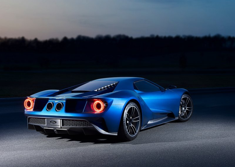 2017 Ford GT Rear Angle Night View