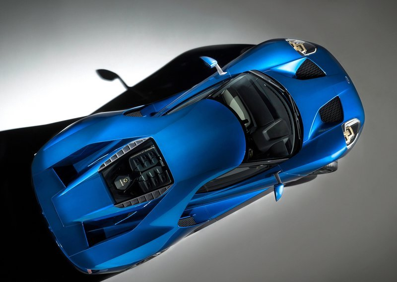 2017 Ford GT Top View