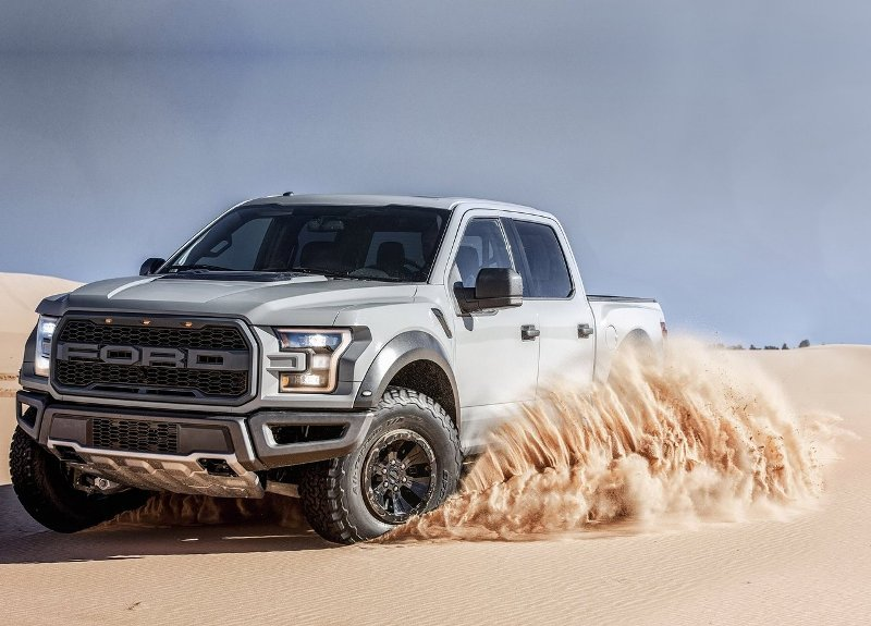 2017 Ford F-150 Raptor rides in the desert